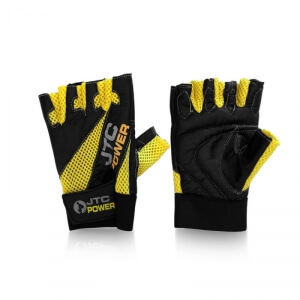 Sjekke Gym Gloves, black/yellow, JTC Power hos SportGymButikken.no