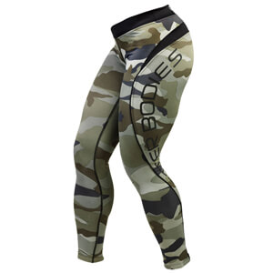 Sjekke Camo Long Tights, camoprint, Better Bodies hos SportGymButikken.no