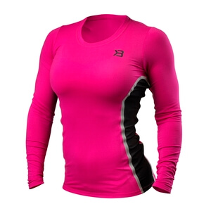 Sjekke Performance Shape Long Sleeve, hot pink, Better Bodies hos SportGymButikk