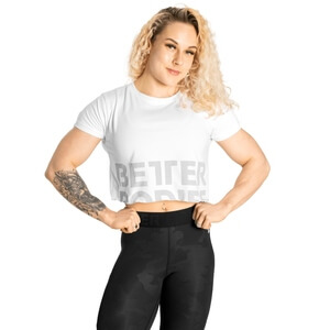 Sjekke Astoria Cropped Tee, white, Better Bodies hos SportGymButikken.no