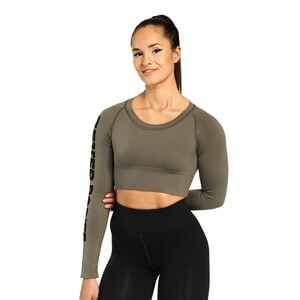 Sjekke Bowery Cropped Ls, wash green, Better Bodies hos SportGymButikken.no