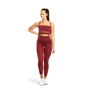 Sjekke Waverly Mesh Bra, sangria red, Better Bodies hos SportGymButikken.no