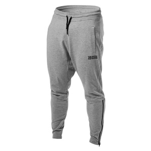 Sjekke Harlem Zip Pants, grey melange, Better Bodies hos SportGymButikken.no