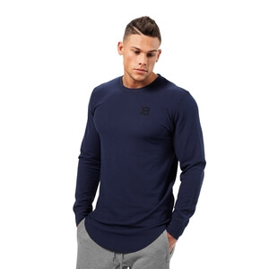 Sjekke Harlem Thermal L/S, dark navy, Better Bodies hos SportGymButikken.no