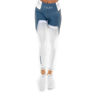 Sjekke Grand Slam Tights, grey/white, Gavelo hos SportGymButikken.no