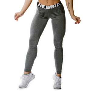 Sjekke Scrunch Butt Tights, dark grey, Nebbia hos SportGymButikken.no