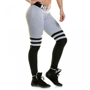 Sjekke Over The Knee Tights, grey, Nebbia hos SportGymButikken.no