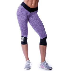 Sjekke High Waist 3/4 Tights, purple, Nebbia hos SportGymButikken.no