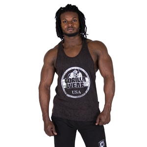 Sjekke Mill Valley Tank Top, black, Gorilla Wear hos SportGymButikken.no