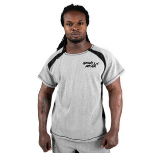 Sjekke Augustine Old School Work Out Top, grey, Gorilla Wear hos SportGymButikke