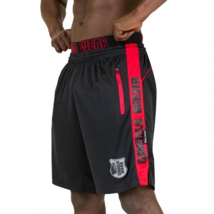 Sjekke Shelby Shorts, black/red, Gorilla Wear hos SportGymButikken.no