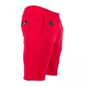 Sjekke Los Angeles Sweat Shorts, red, Gorilla Wear hos SportGymButikken.no