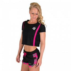 Sjekke Columbia Crop Top, black/pink, Gorilla Wear hos SportGymButikken.no