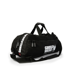 Sjekke Norris Hybrid Gym Bag/Backpack, black, Gorilla Wear hos SportGymButikken.