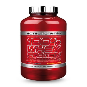 Sjekke 100 % Whey Protein Professional, Scitec Nutrition, 2350 g hos SportGymBut