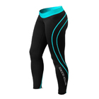 Athlete Tights, black/aqua, Better Bodies