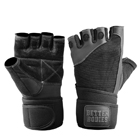 Pro Wristwrap Gloves, black, Better Bodies