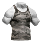 Utility Rib T-Back, grey camoprint, GASP