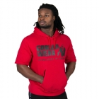 Boston Short Sleeve Hoodie, red/black, Gorilla Wear