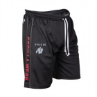 Functional Mesh Shorts, svart/rød, Gorilla Wear
