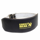 Full Leather Padded Belt, black/gold, Gorilla Wear