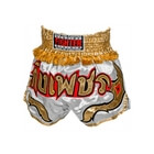 Thai Shorts, grey/gold, Fighter