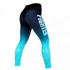 Gazelle Compression Tights, sort/turkis, Fighter