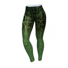 Circuitry Leggings, black/green, Anarchy Apparel