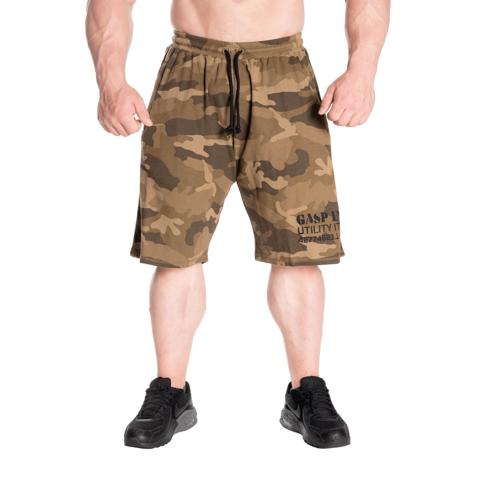 Thermal Shorts, green camoprint, large